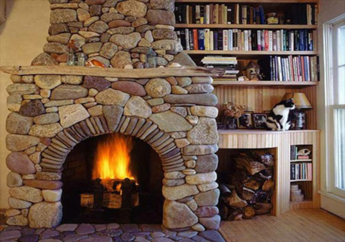 Fireplace Mantel with Minimal Decoration