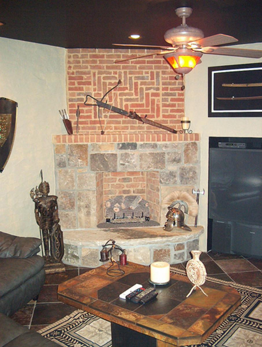 Fireplace Mantel Gone Gothic