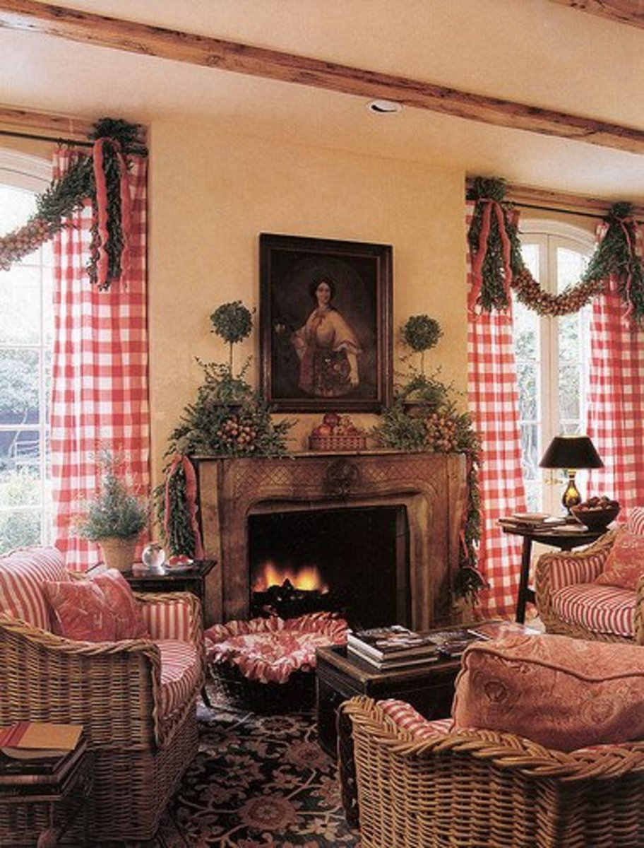Fireplace Mantel with a Symmetrical Arrangement
