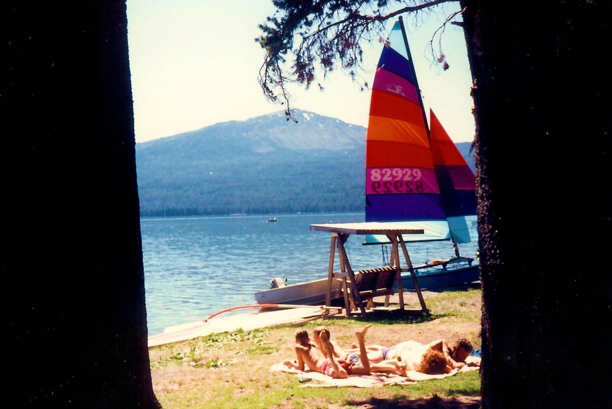 Enjoying Diamond Lake in the Oregon Cascades