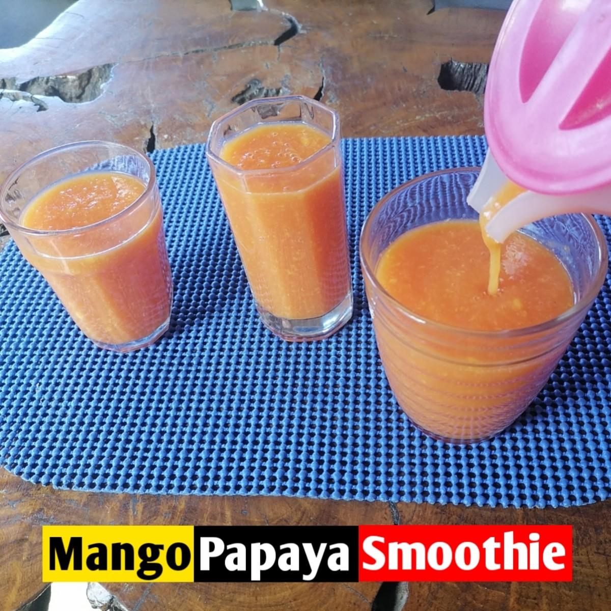 Mango papaya smoothies are so refreshing and tasty