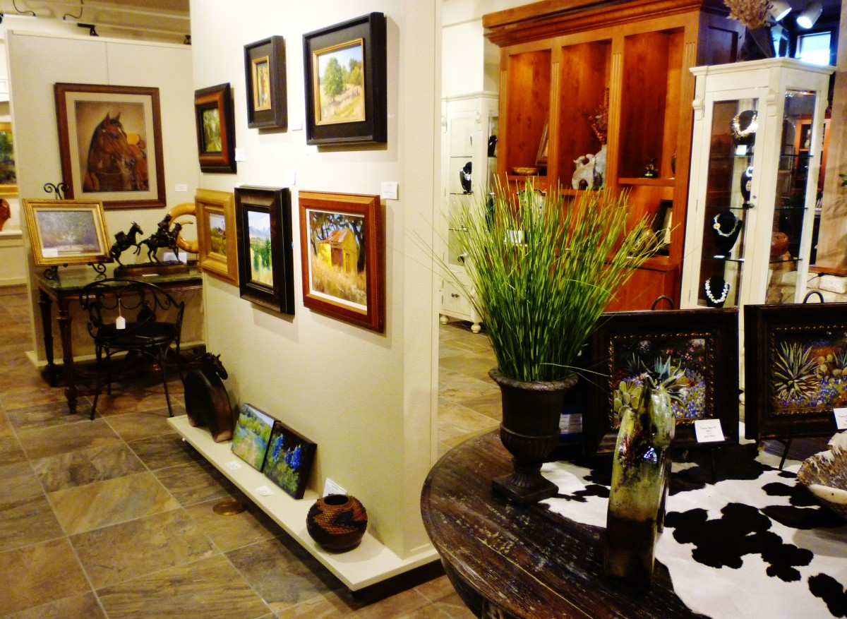 One view of the art gallery at Brookwood.