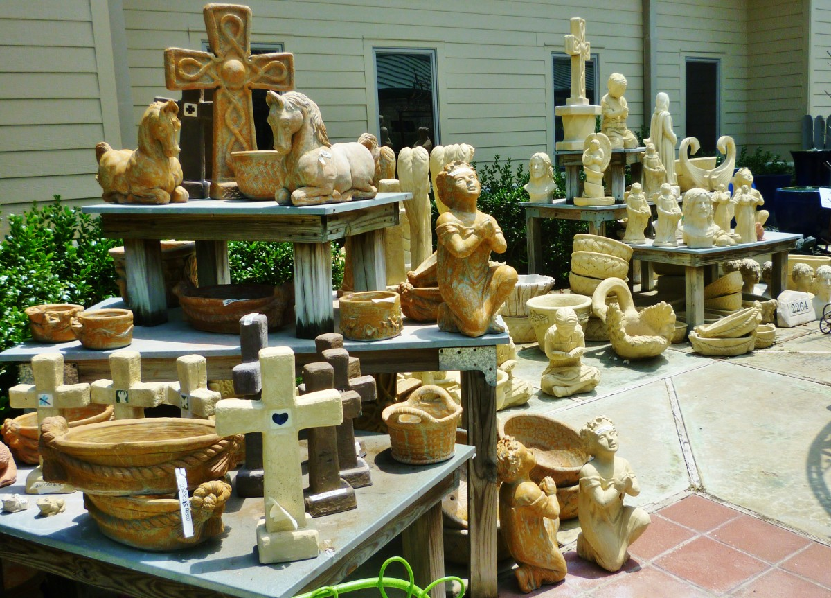 Statuary of all types at Brookwood Community