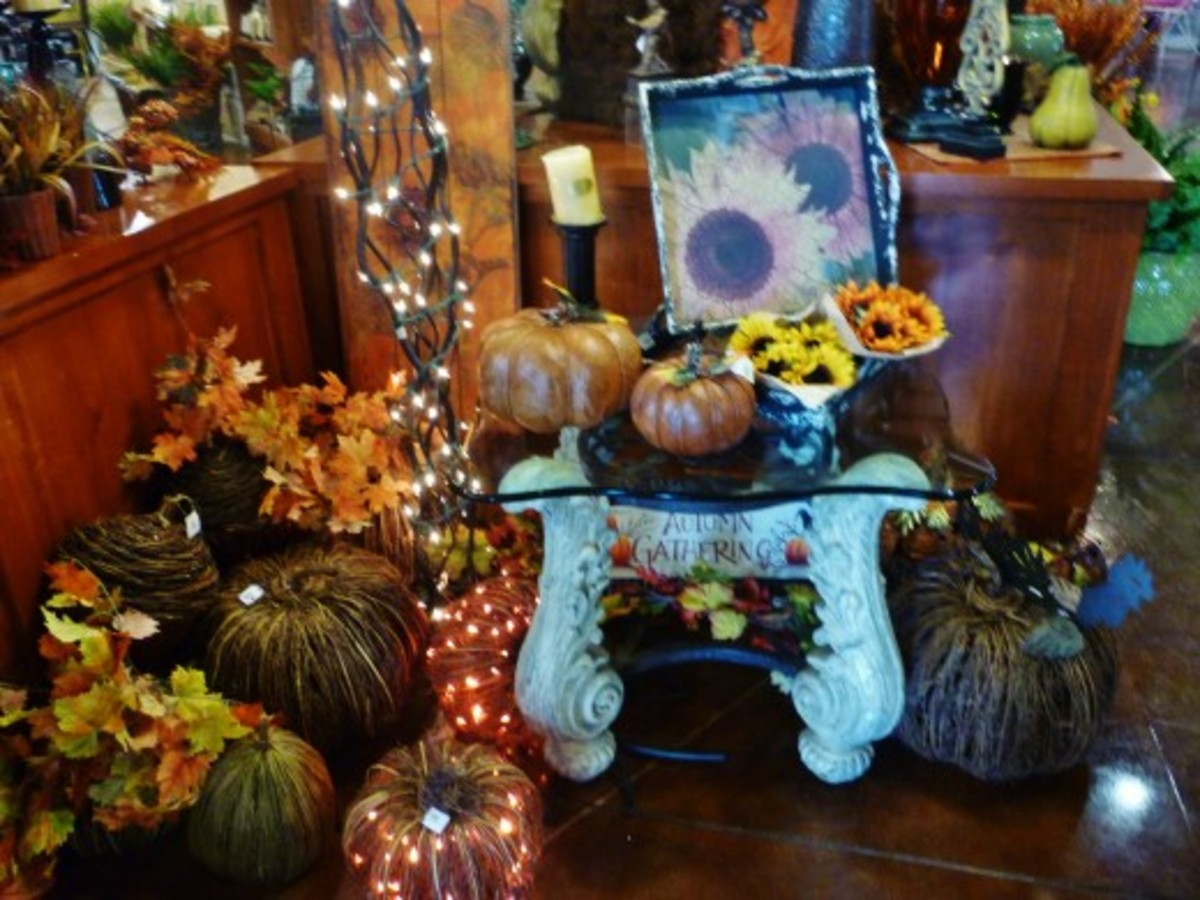 Fall / Halloween décor for sale in the Brookwood Gift Shop