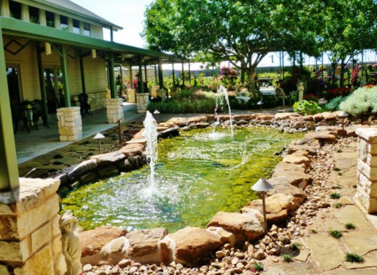 Brookwood landscaping in back of the building leading to the nursery area.