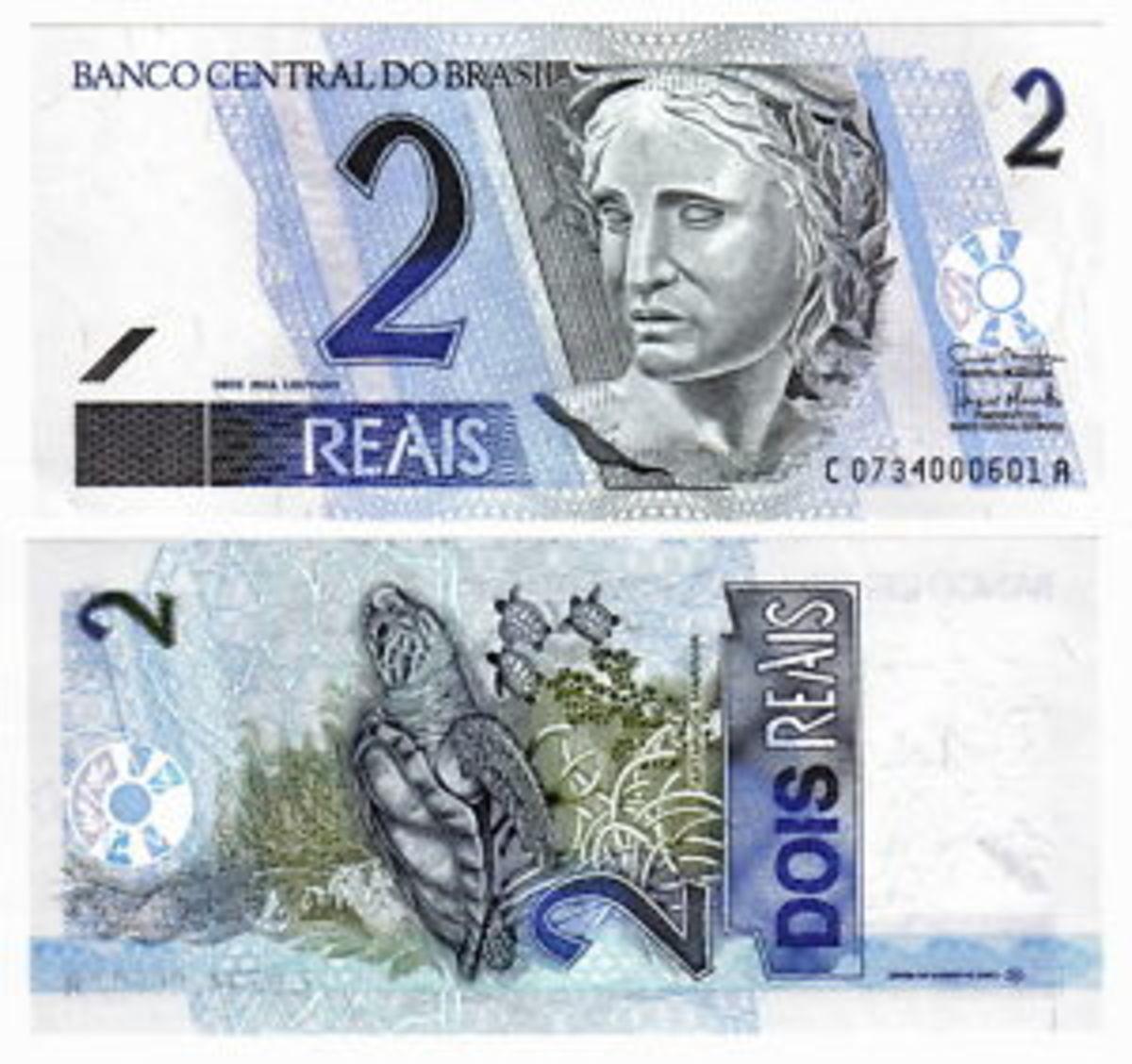 Brazilian banknote (2 reais)