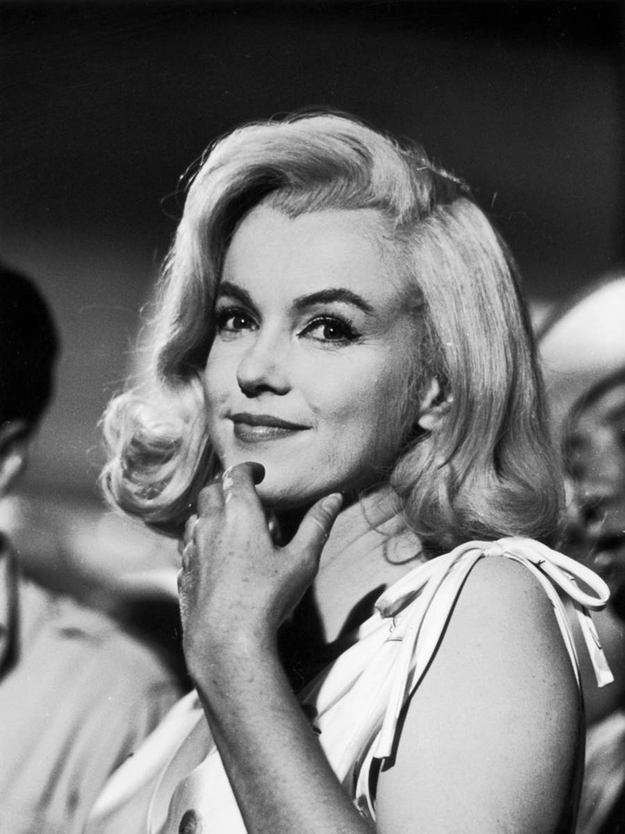 Marilyn Monroe on the set of The Misfits.