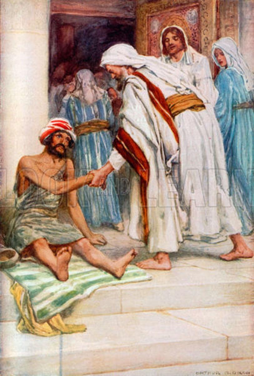 Peter gave healing to the crippled beggar