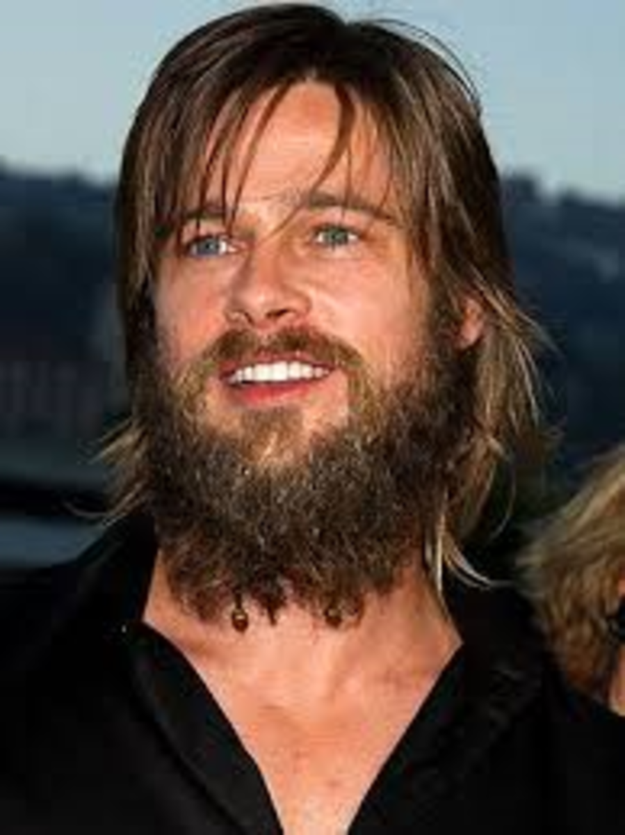 Brad Pitt looking very similar to a caveman