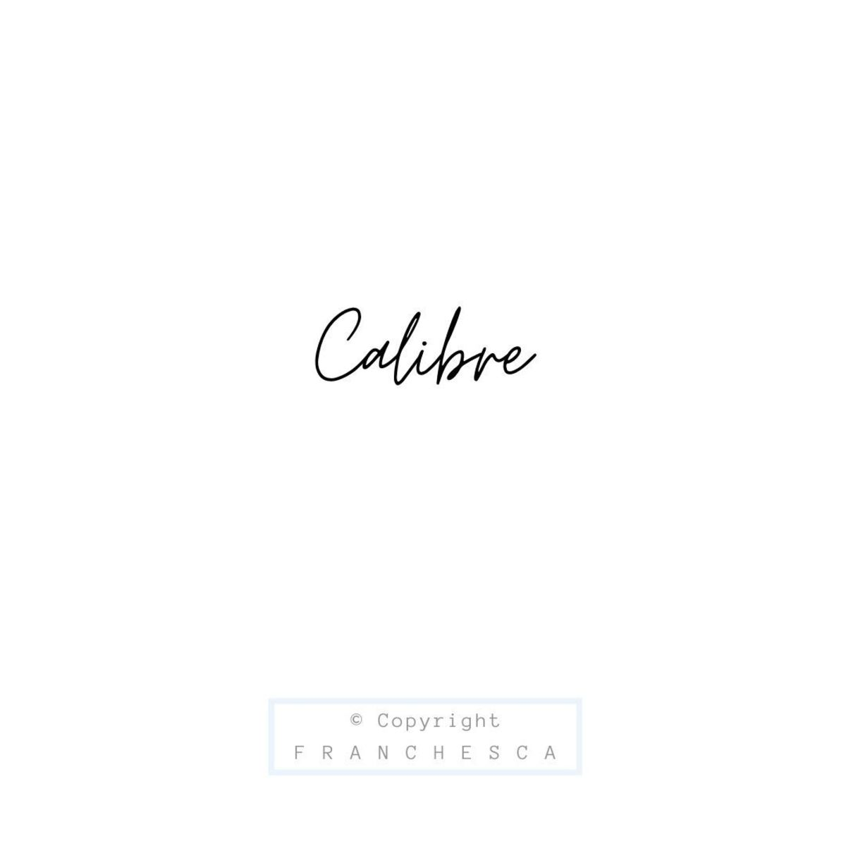 163rd Article: Calibre