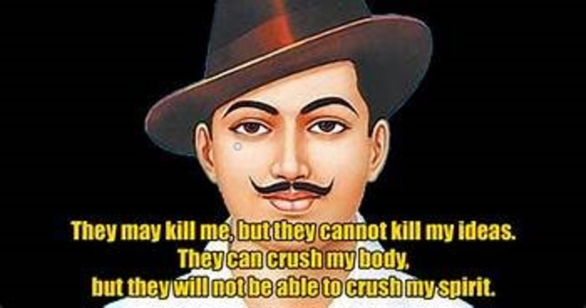 Shaheed Bhagat Singh - the martyr who laid down his life for the freedom of India ....