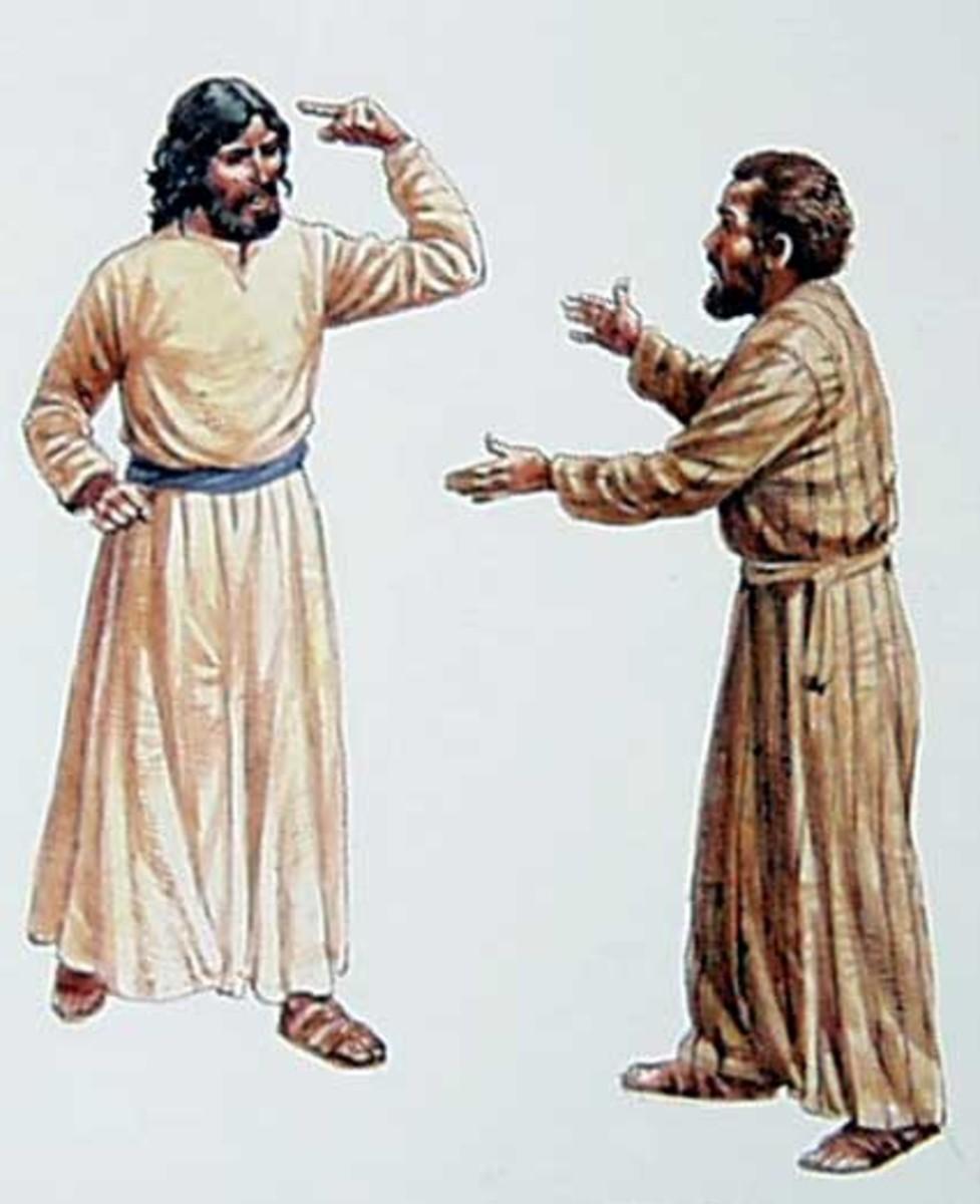 Jesus rebukes Peter