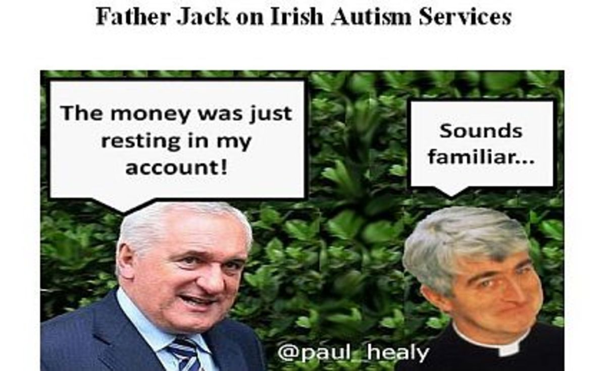 Bertie our former leader and Father Ted. Two Irish men who could charm the birds from the trees.