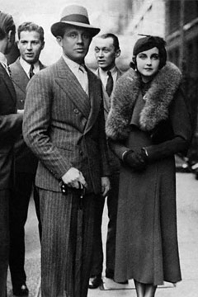 Barbara Hutton with Alexis Mdivani. On their wedding night he told her she was fat triggering the first of several bouts of anorexia.