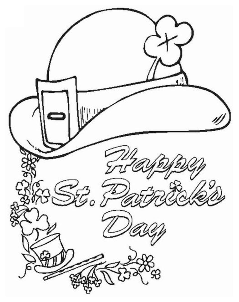Saint Patricks Day Coloring Pages, Free Shamrock Holiday Colouring Pictures for Kids to download, print and color.