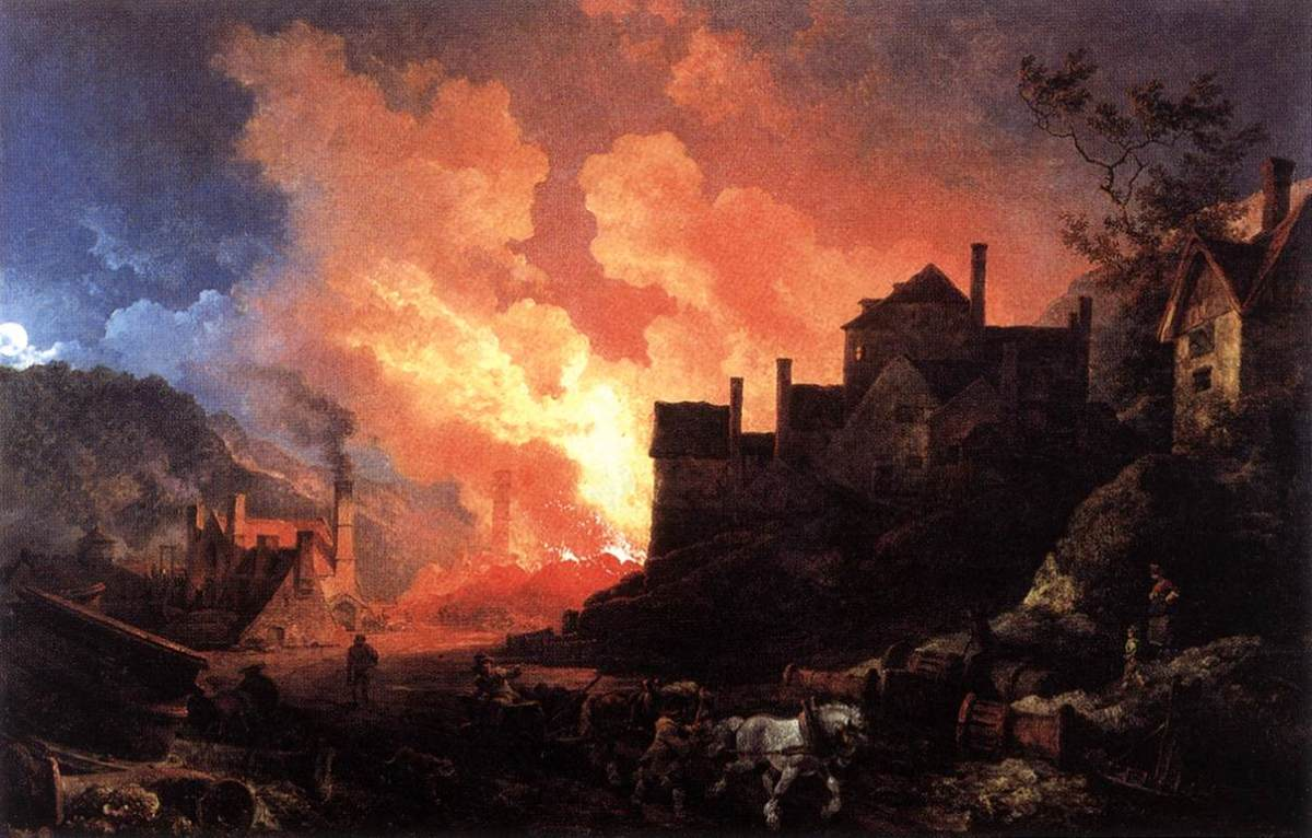 """The Iron Works at Coalbrookdale"" -Philip de Loutherbourg."