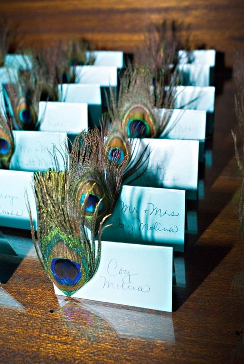 Simple and yet eyecatching, these seating cards carry the theme perfectly