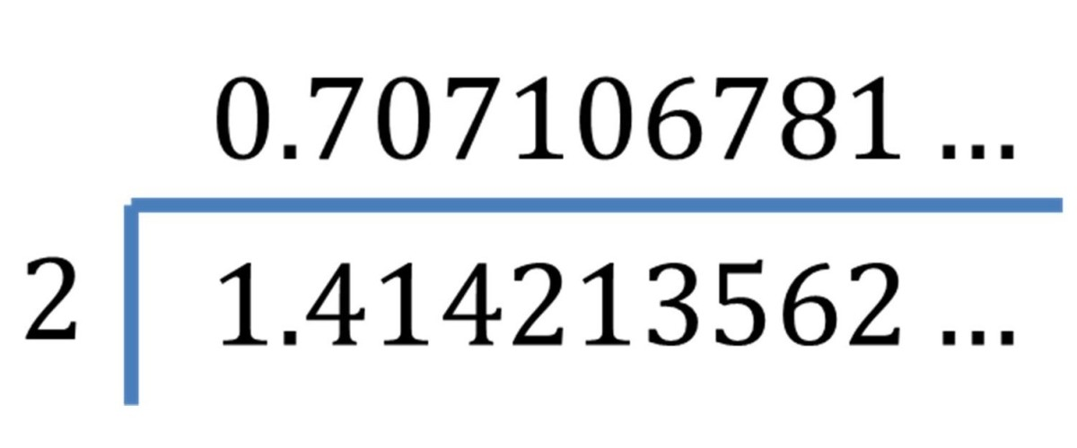 Diving a Surd By a Whole Number