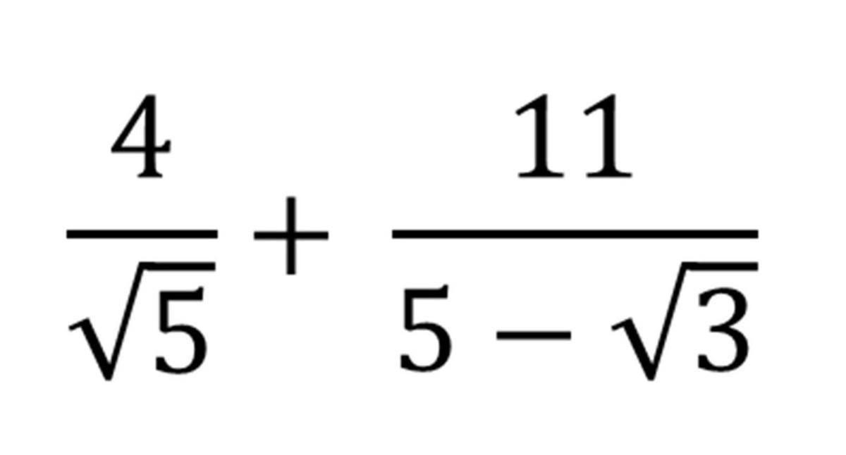 Adding Fraction Including Surds