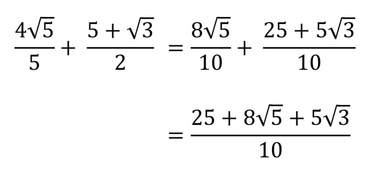 Adding Our Surd Fractions Together