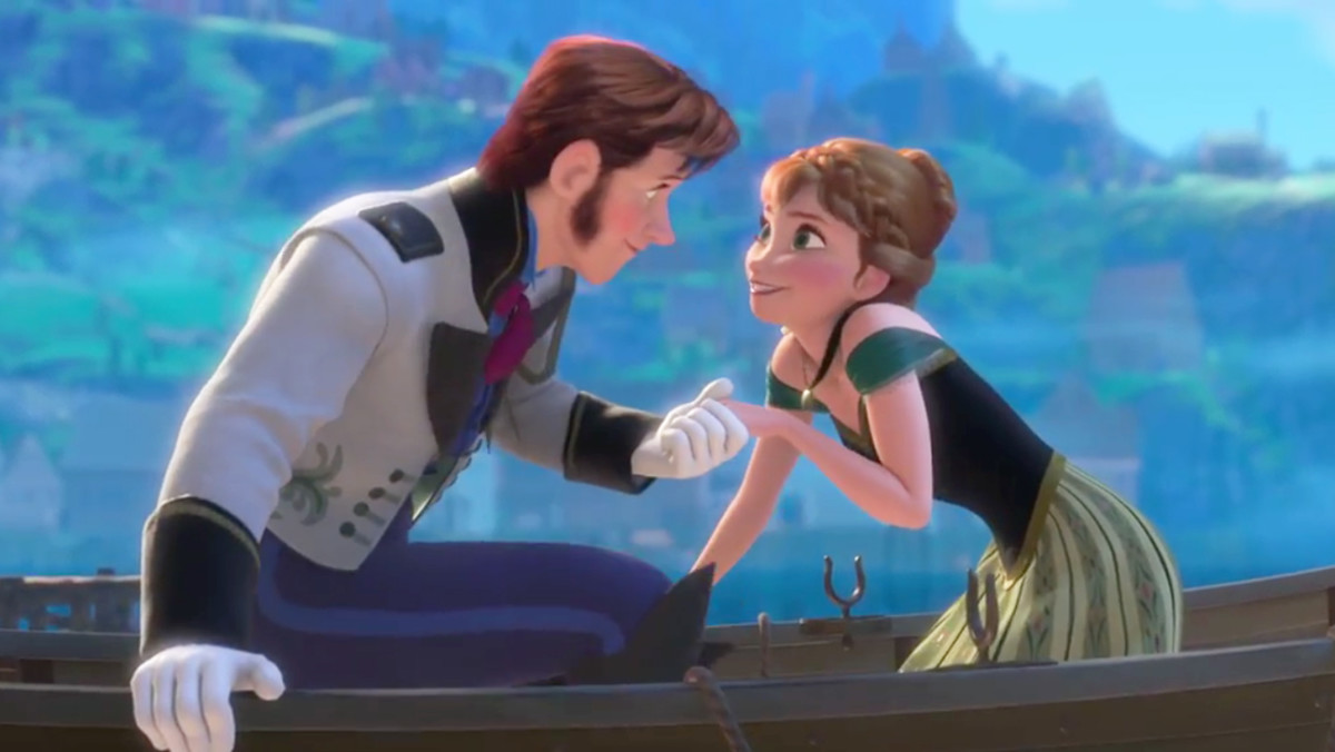 Anna & Hans when they first meet