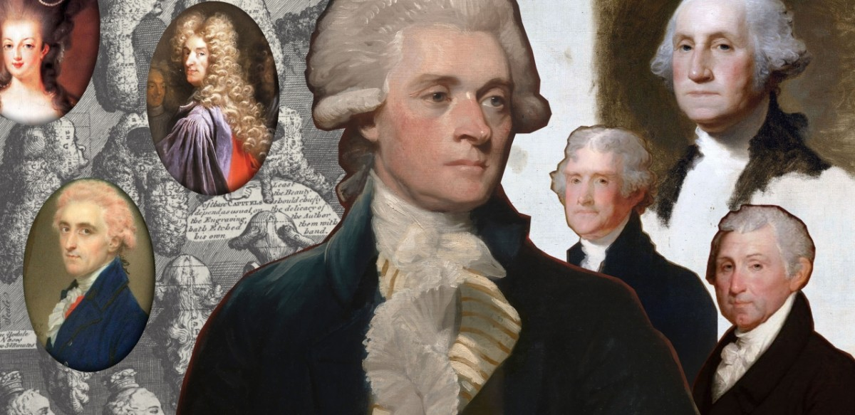 Why did people wear powdered wigs in the 18th Century?