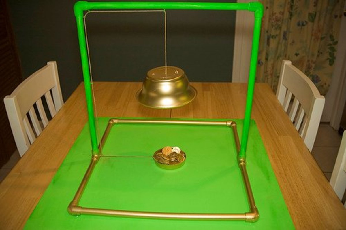 Here's a Leprechaun Trap you can copy and catch the little guys causing mischief around your house.
