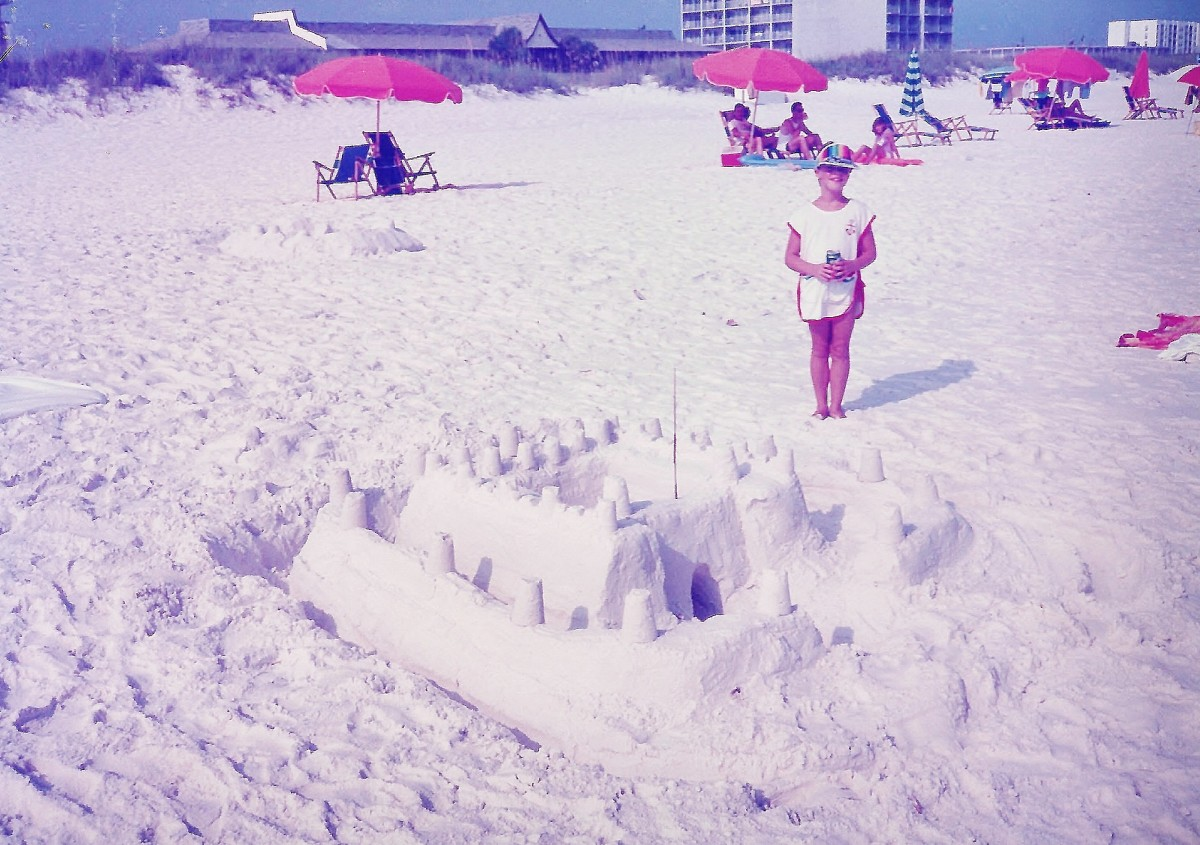 Look at the fun some people had making sand castles in that white sand at Fort Walton Beach!