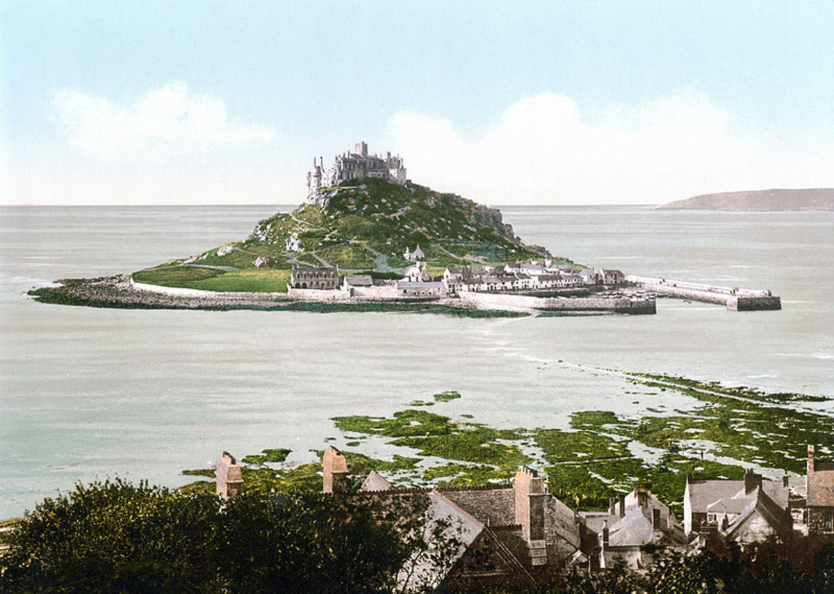 Casltes in Cornwall: St Michael's Mount, Marazion.