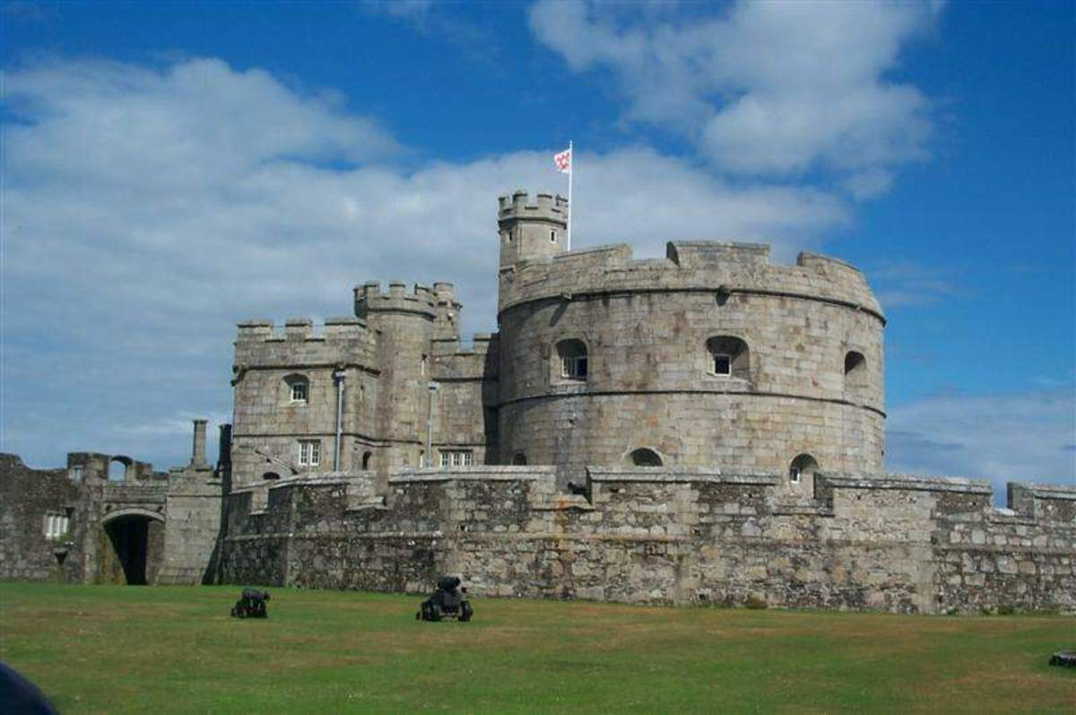 Castles in Cornwall: Pendennis Castle, Falmouth.