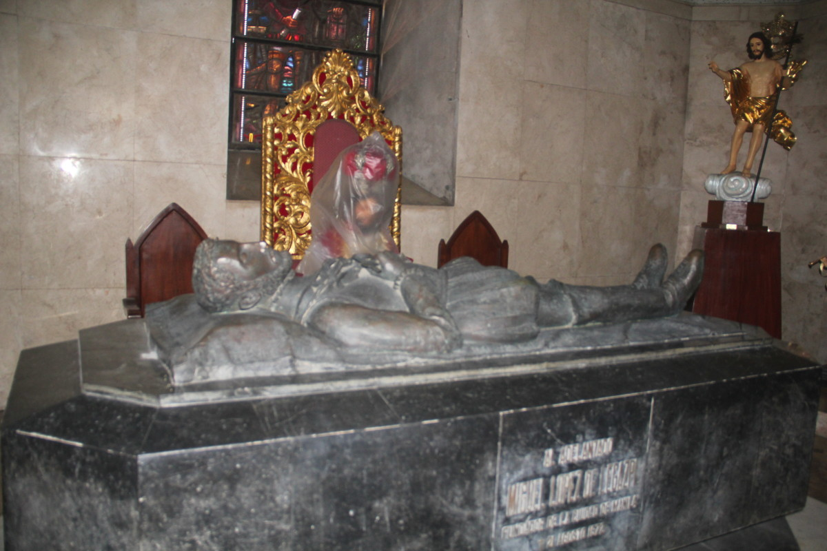 Final resting Place of Miguel Lopez de Legazpi, the founder of Manila (Photo by the author)