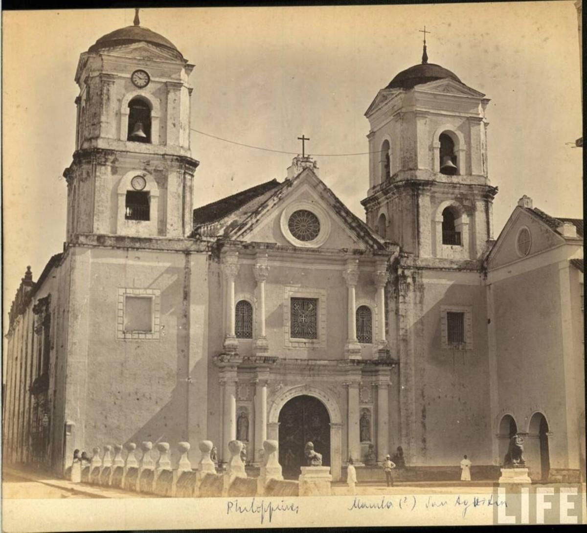 San Agustin Church before the destructive 1880 Luzon earthquake (Photo credit: goldwinlovesvina.wordpress.com)
