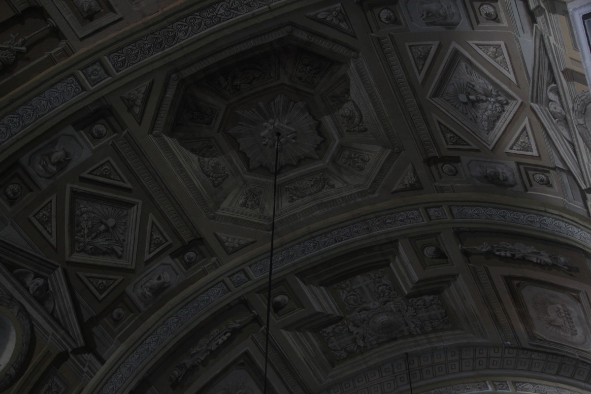 Paintings on the ceilings of San Agustin Church (Photo by the author)