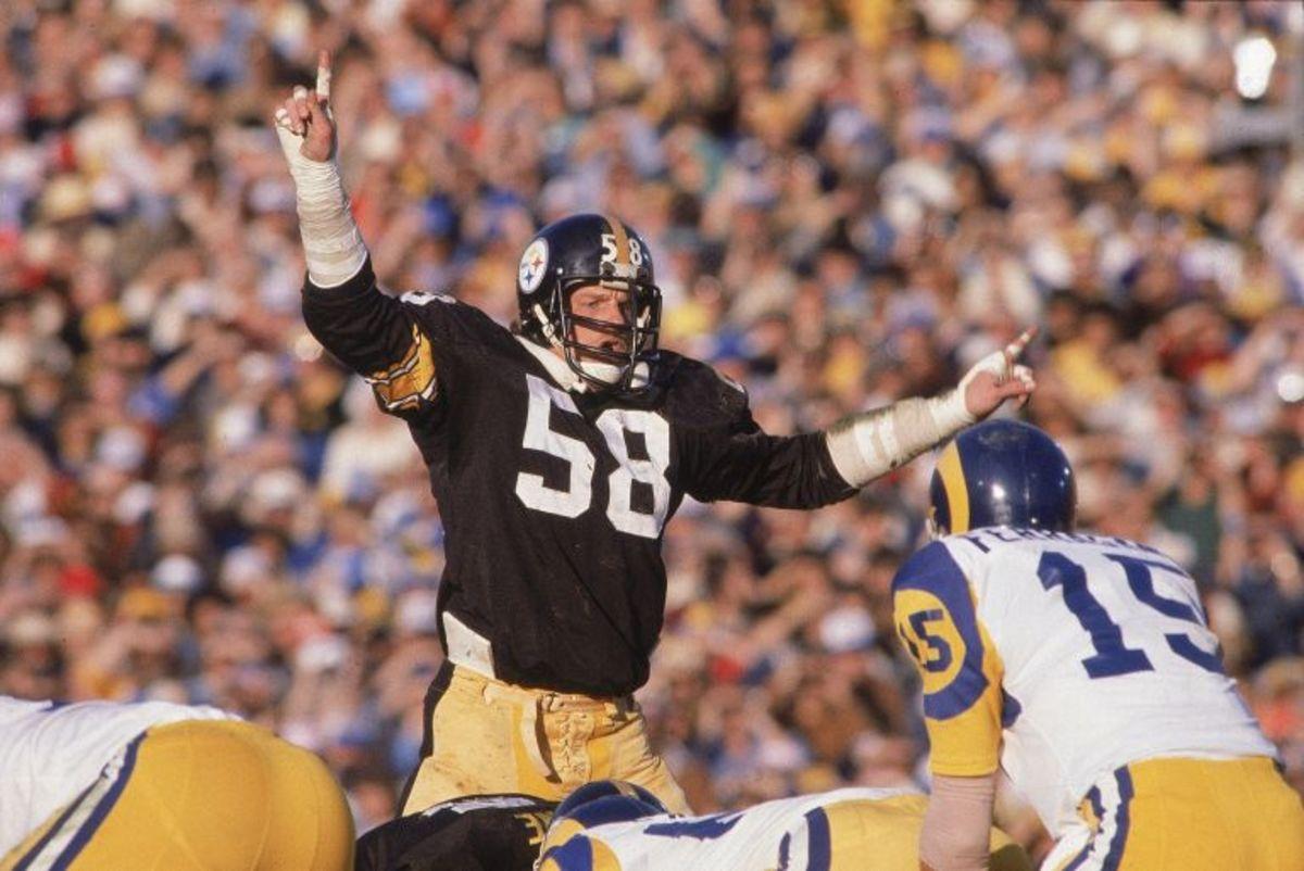Lambert in Super Bowl XIV.