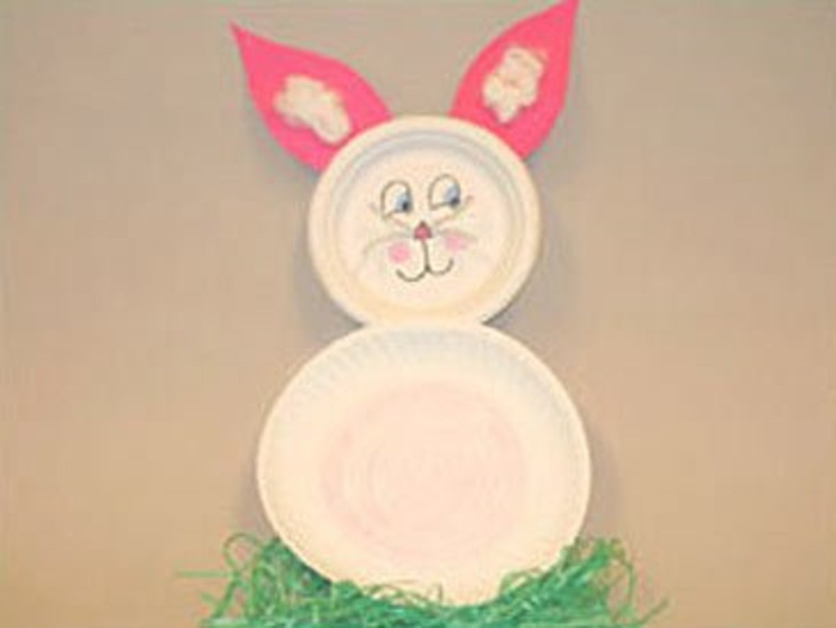 Easter peeking bunny