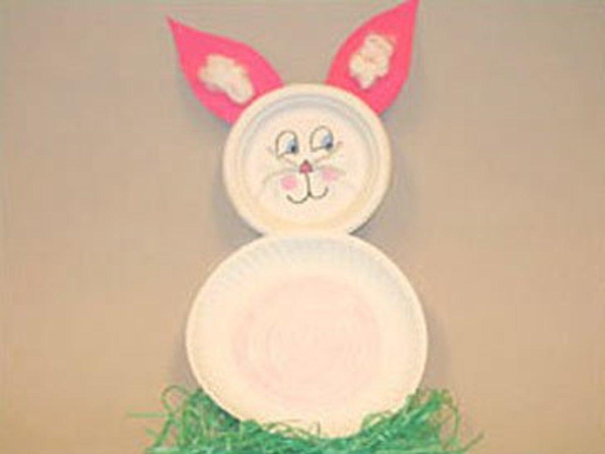 Easter peeking bunny