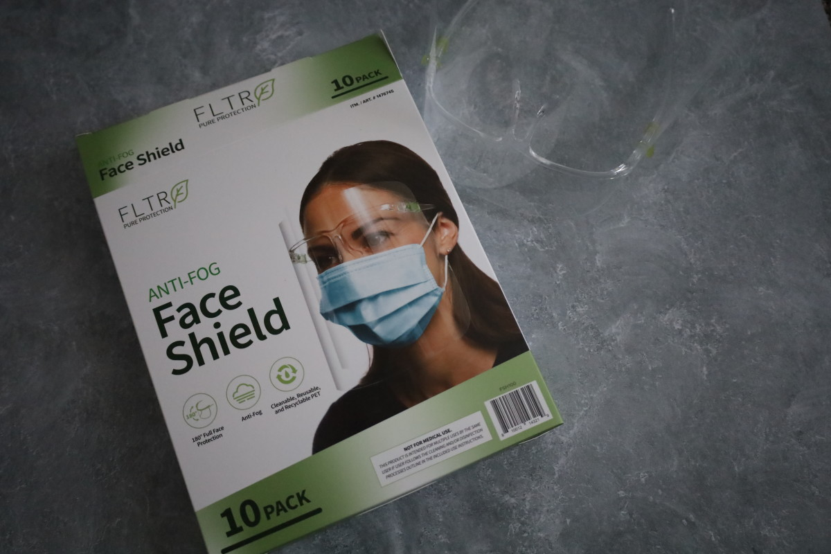 An anti-fog face shield is quite comfortable to wear while having a mask on.