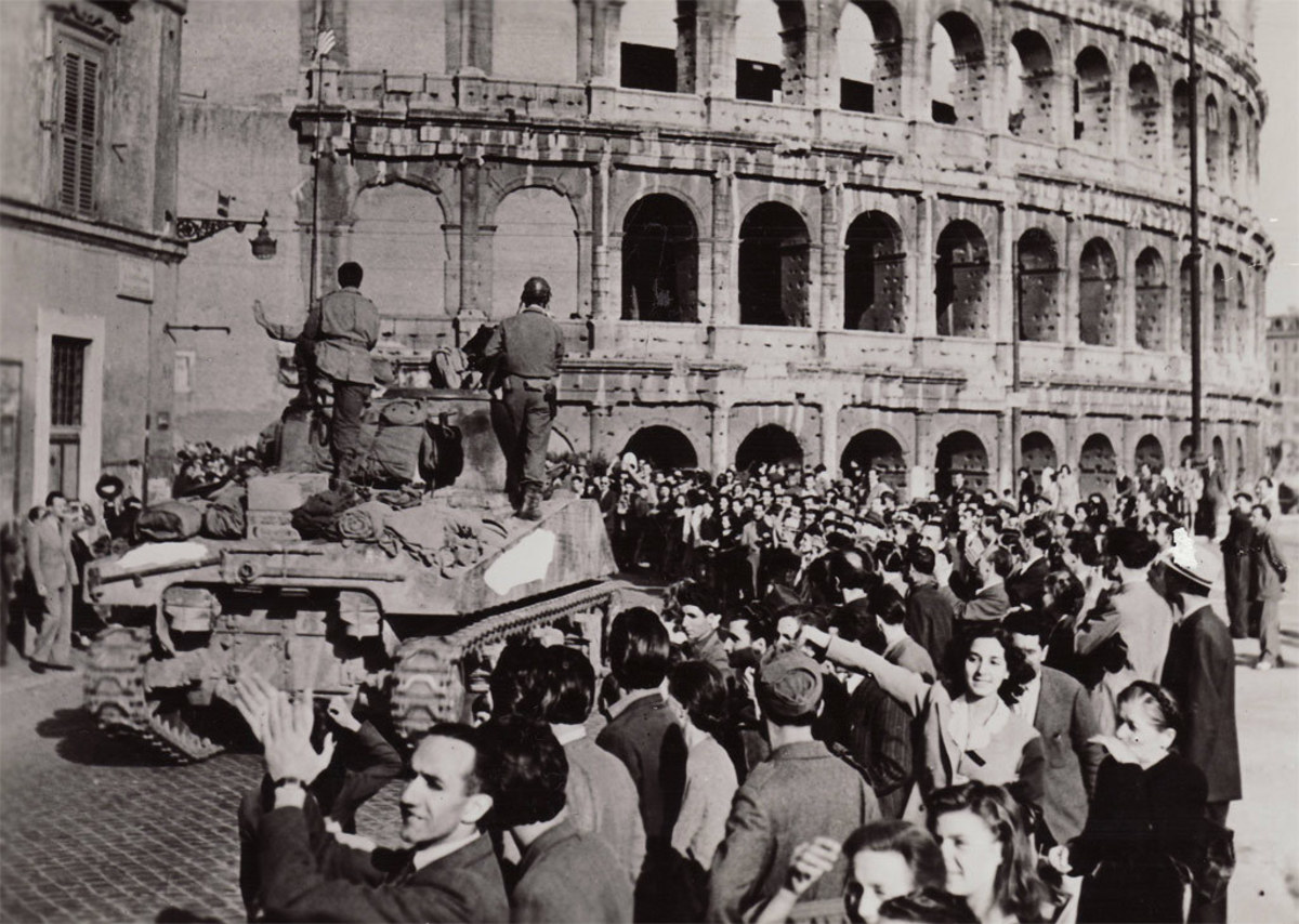 The 1st Armored Division in Rome