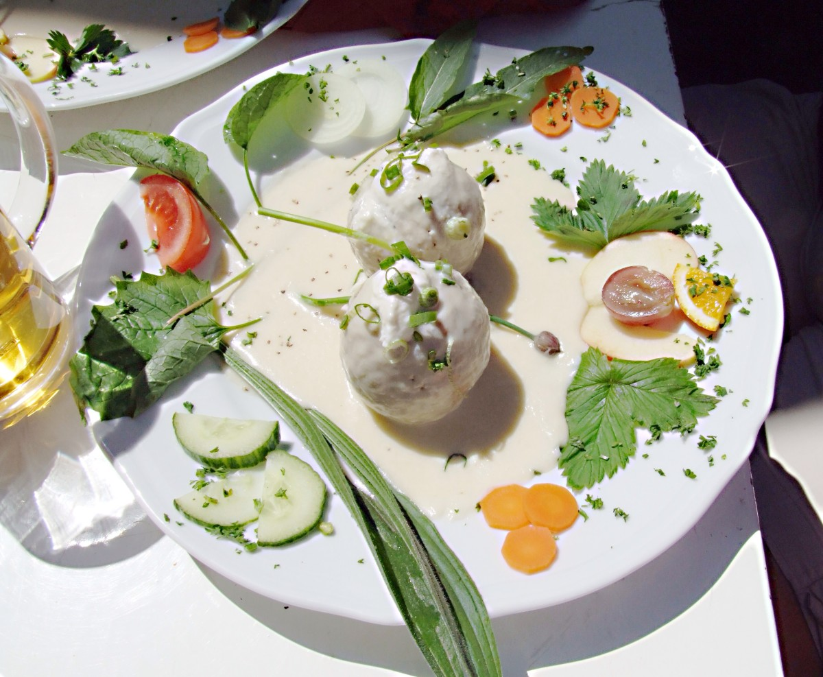 Meatballs with horseradish sauce is a traditional meal in some parts of the world.