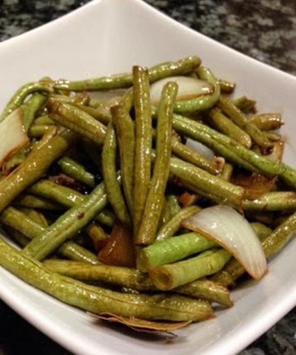Adobong sitaw is an adobo dish with long beans