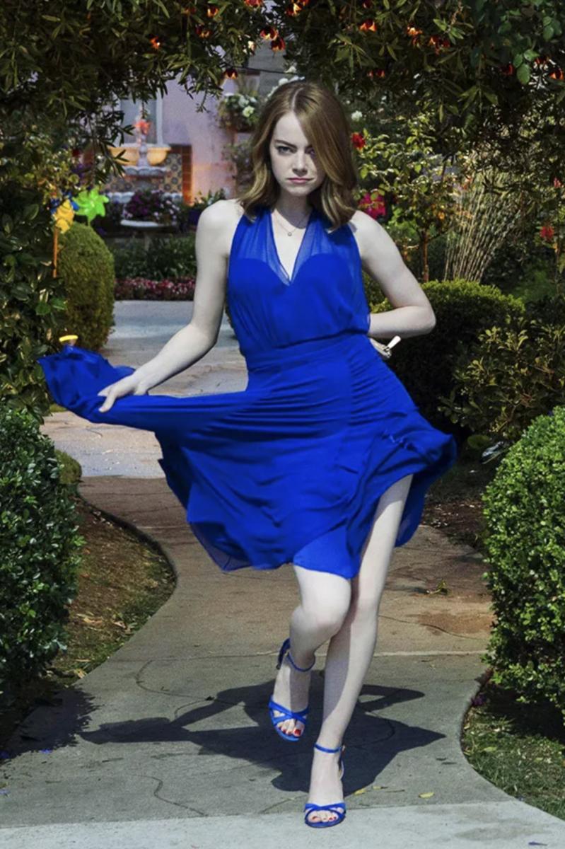 Mia's blue cocktail dress for La La Land
