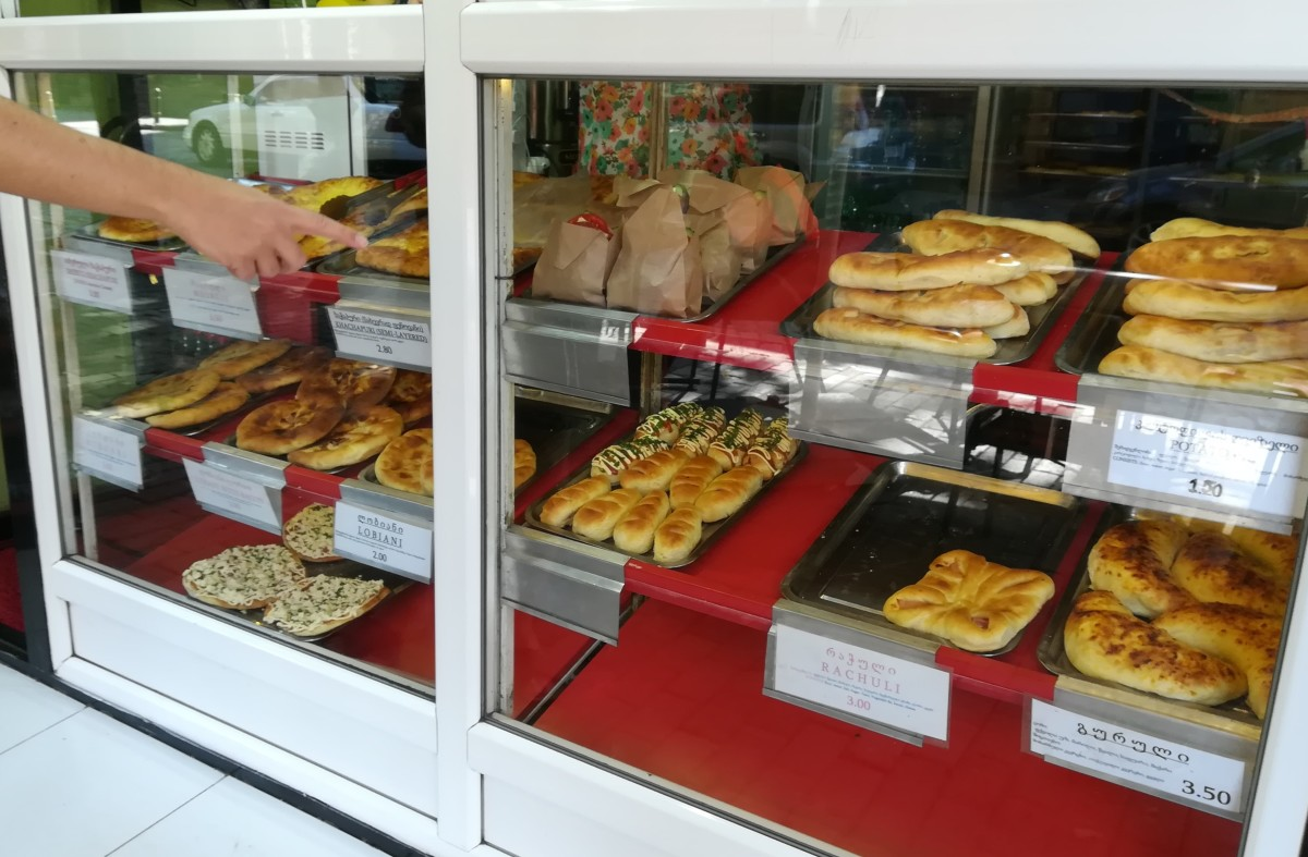 Choosing lunch at Good Mood Food