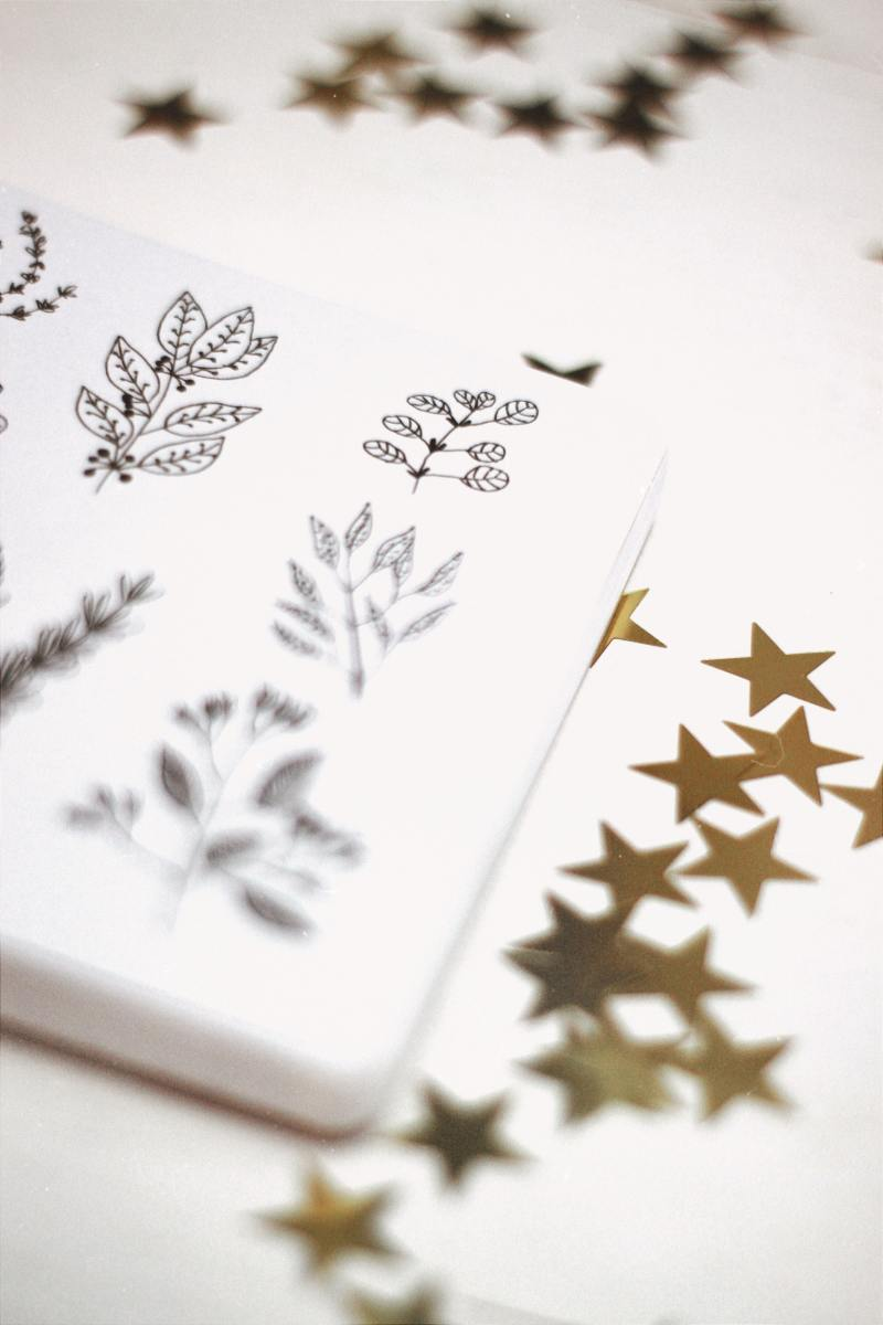 These golden stars would look fantastic inside any bullet journal!