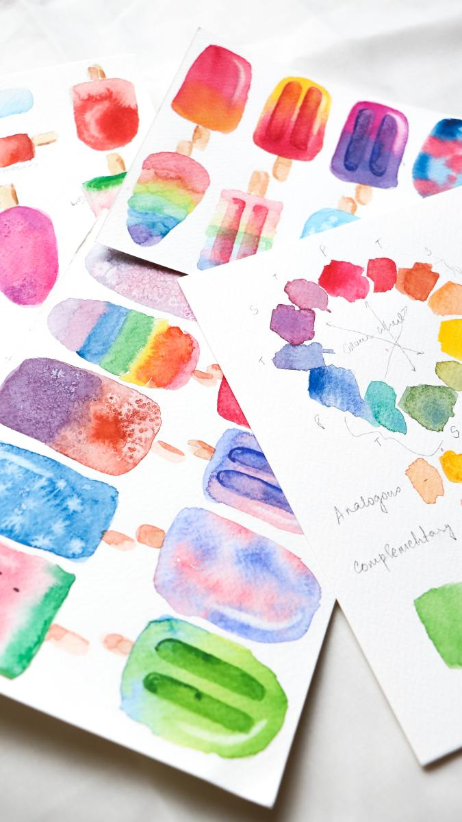 Watercolor stickers make for a refreshing touch of magic!