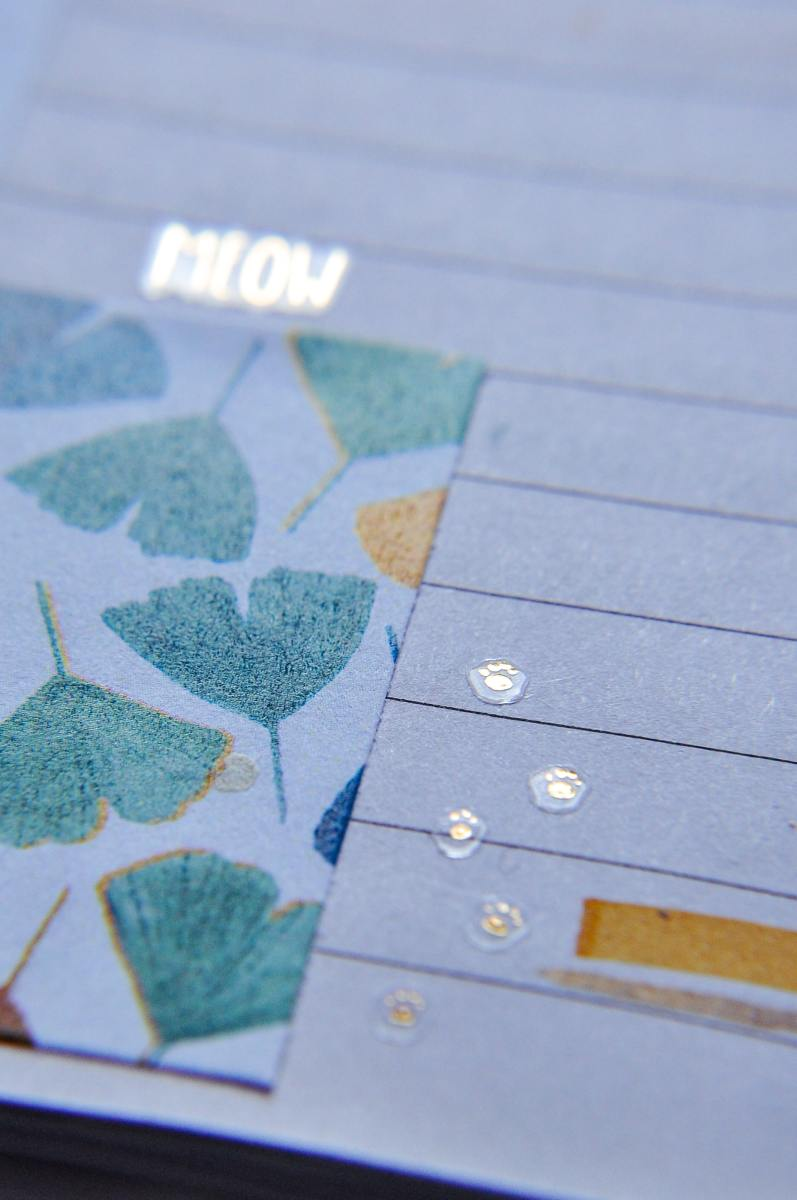 These leafy patterns look amazing in this journal!