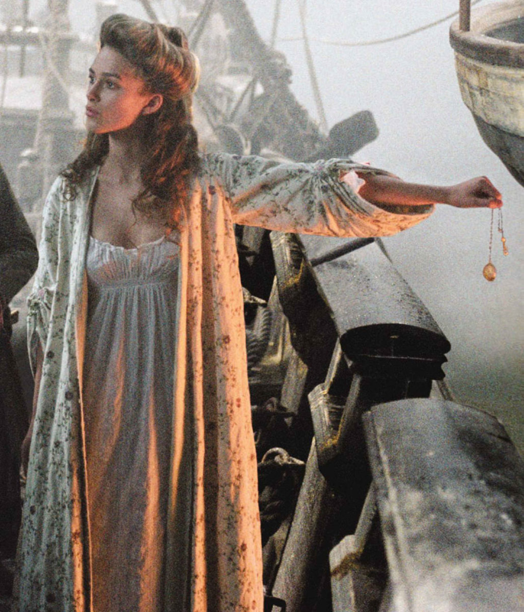 Keira Knightley as Elizabeth Swann  The Pirates of the Caribbean: The Curse of the Black Pearl