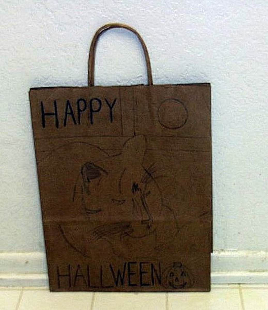 The picture of Bobby was drawn on a brown paper bag.