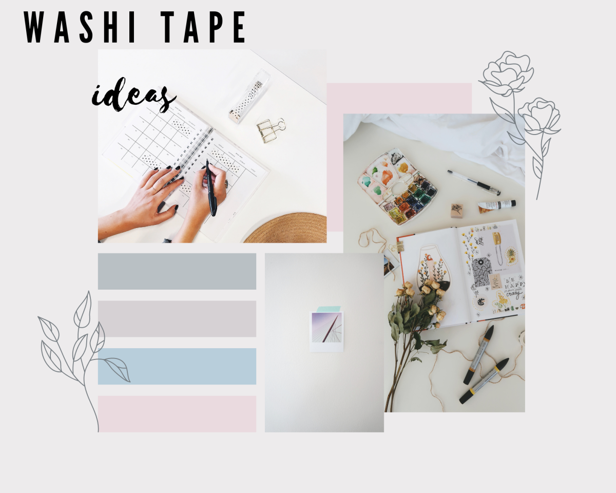 Try adding some washi tape to your journals for a creative touch.