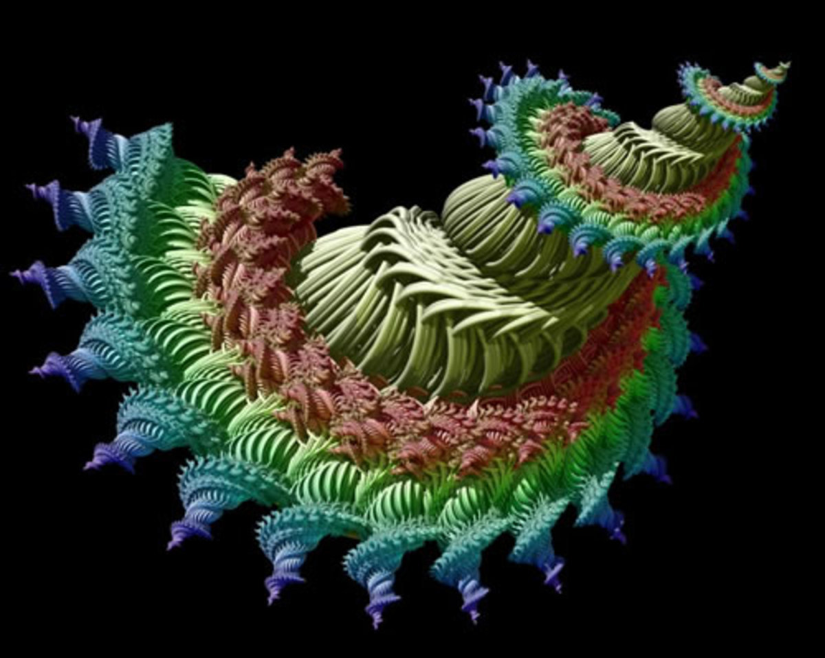 Image by Alfred Lang -- Might we someday model the micro-world as a quantum super-fluid of interconnected, beautifully complex, fractal vortices?