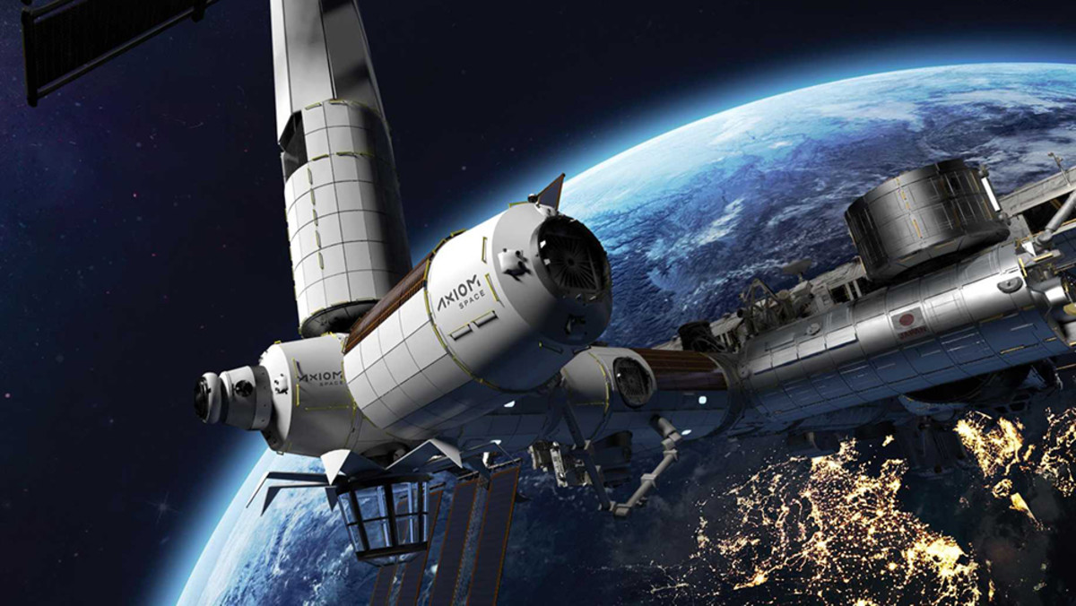 Axiom Space Stationfor Space Commerce  That Will Include a Hotel